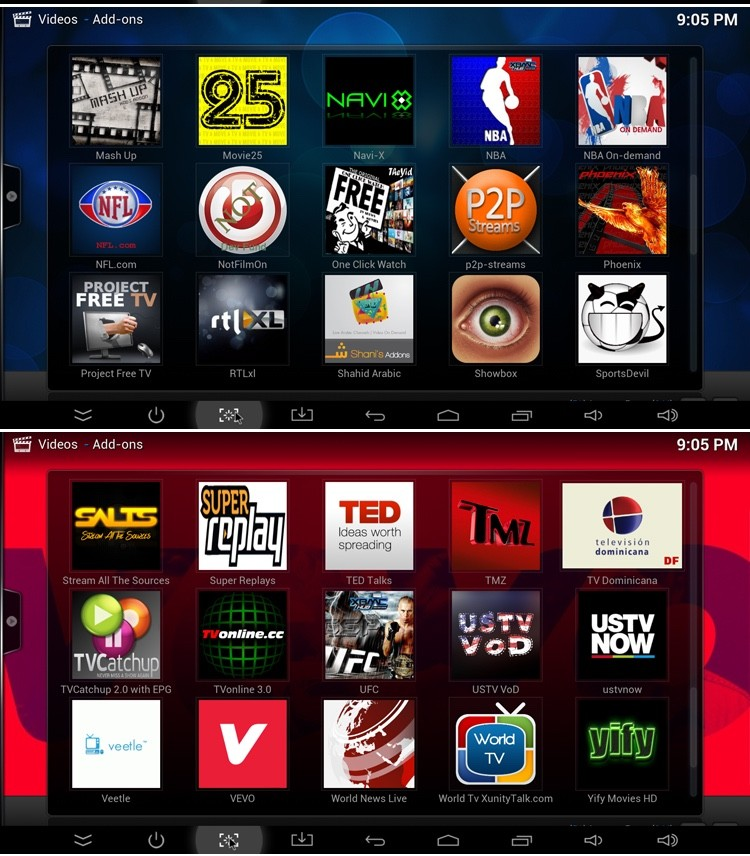 hot sale smart tv box android