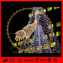 2014 LED christmas motif light duck embedded in circle/HOLIDAY LIGHTING