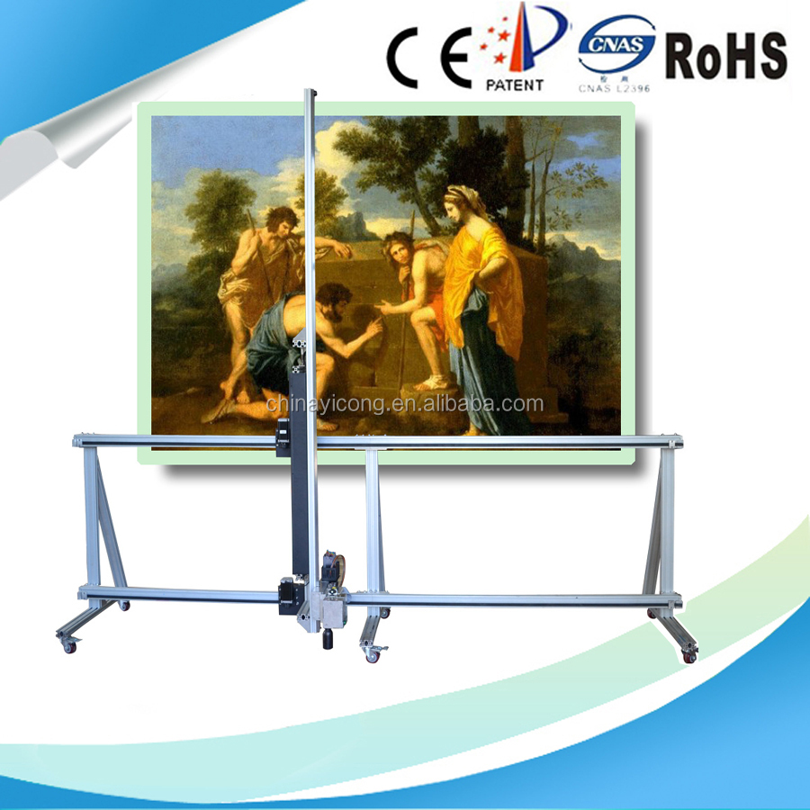 3D Digital Wall Direct Plotter For Printing TV Background Mural Printer