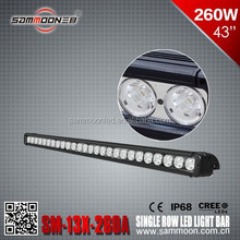 260W head driving light ONE ROW 10W/LED head light BAR LIGHT COMBO FOR SUV ATV 4X4 TRUCK MACHINE POLICE PLANE
