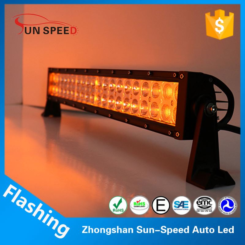Cool stytle 120w two tone led flashing light bar,yellow and white color transform led light bar extra lights for cars