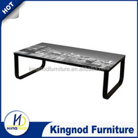 english cheap modern living room furniture hot selling metal cafe tea table glass coffee tables Wholesale Coffee Tables