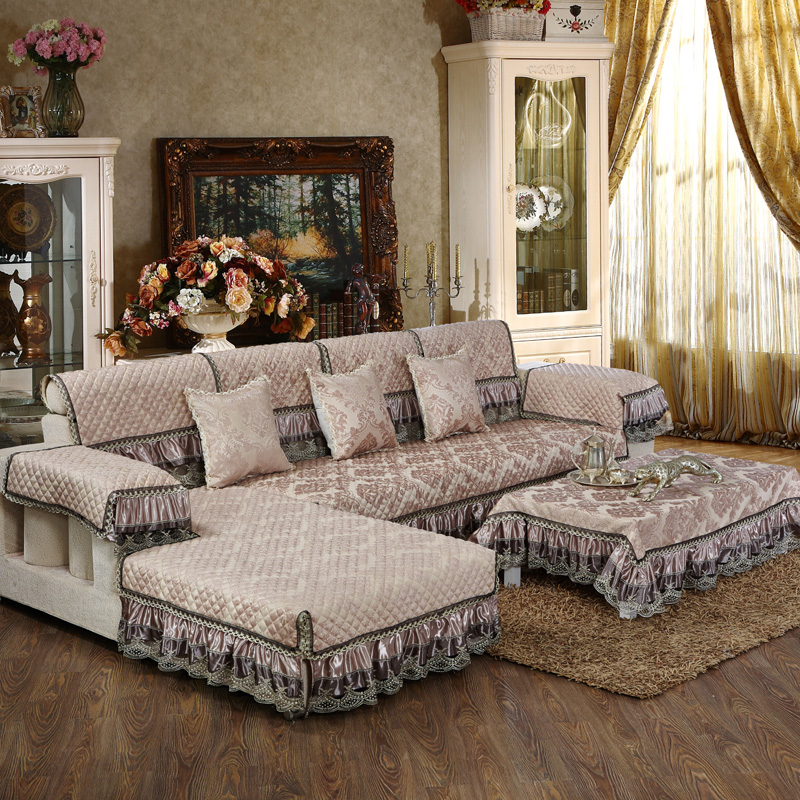 European and French style sofa and chair covers for Armrest , Backrest