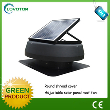 Hot selling 30W solar greenhouse ventilation fan with solar energy