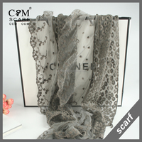 new arrival ladies fashion embroidery lace scarf neckwear