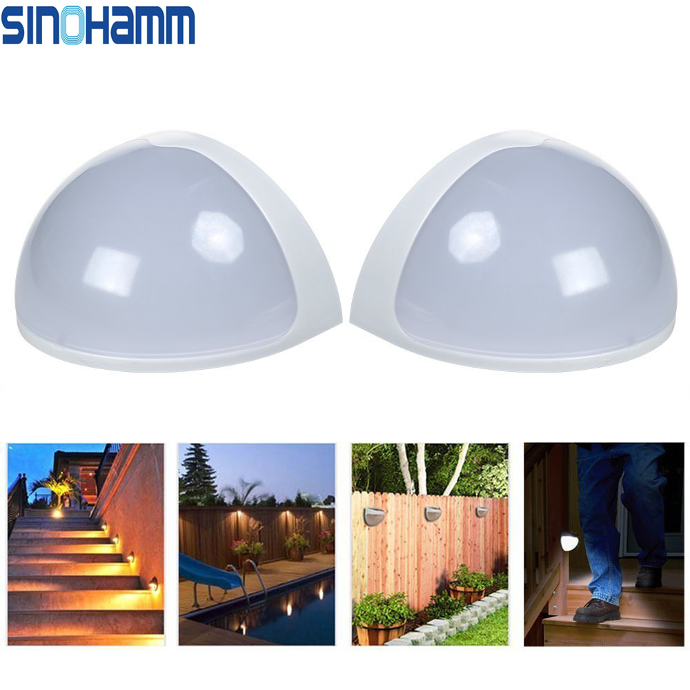 Solar Powered Wall Sensor Light Accent Lighting Waterproof 6 LED Practical Acent Lighting MANUFACTURE