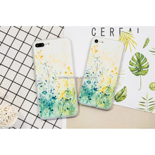 3D Relief Flower Phone Case for iPhone 8 7 6 6S Plus Cases Artistic Soft TPU Material Phone Cover