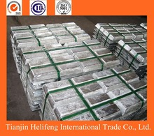 Pure zinc ingot 99.995 manufactures promote to sell