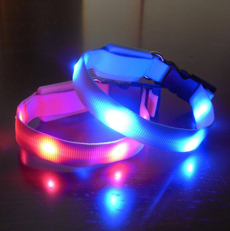 USB Rechargeable LED Flashing Dog Collar For Christmas