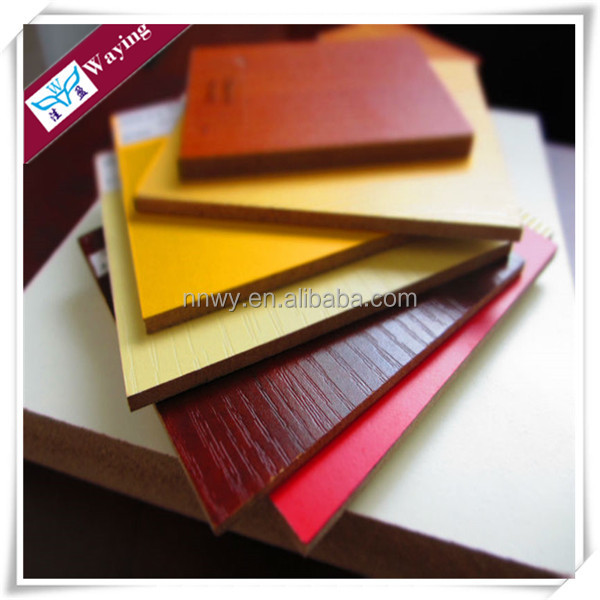 Wood grain colors faced melamine MDF plywood