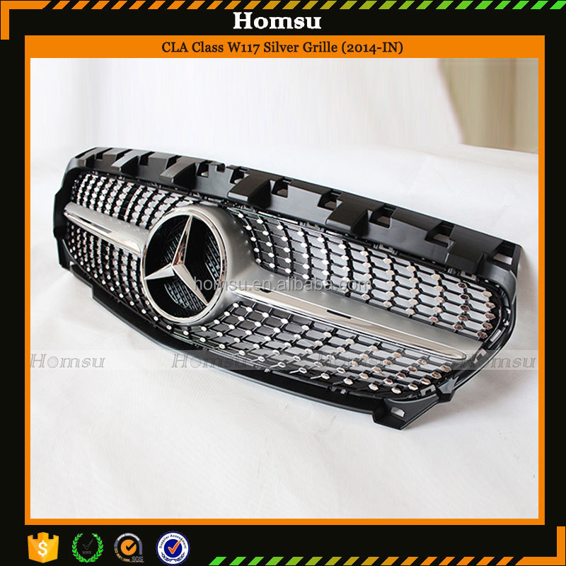 <strong>W117</strong> CLA45 Diamonds ABS FULL STAR AUTO SPARE PARTS Front Grill For Ben-z <strong>W117</strong> CLA class CAR BODY PARTS