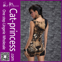 Accept paypal printed tiger mini dress