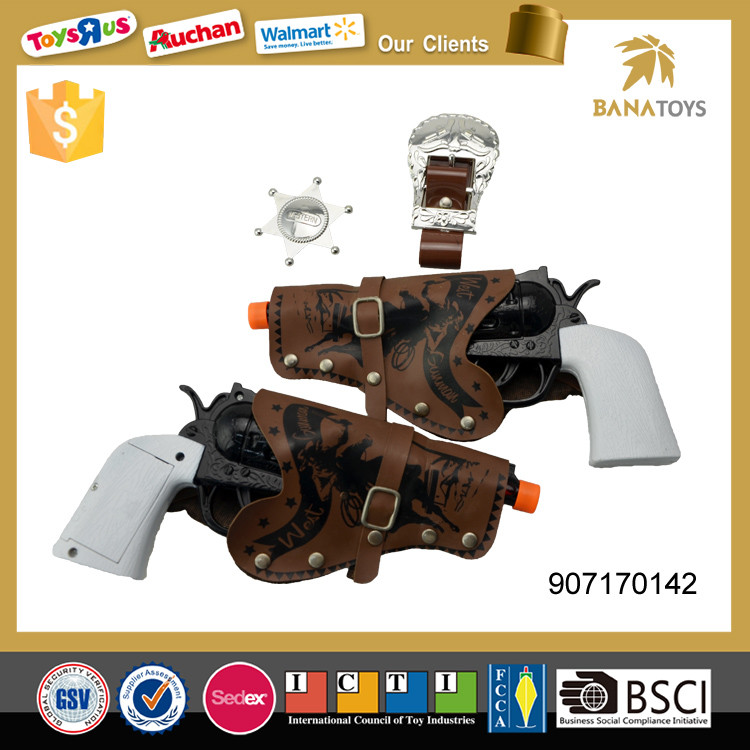 Electric cowboy toy gun revolver with light and sound