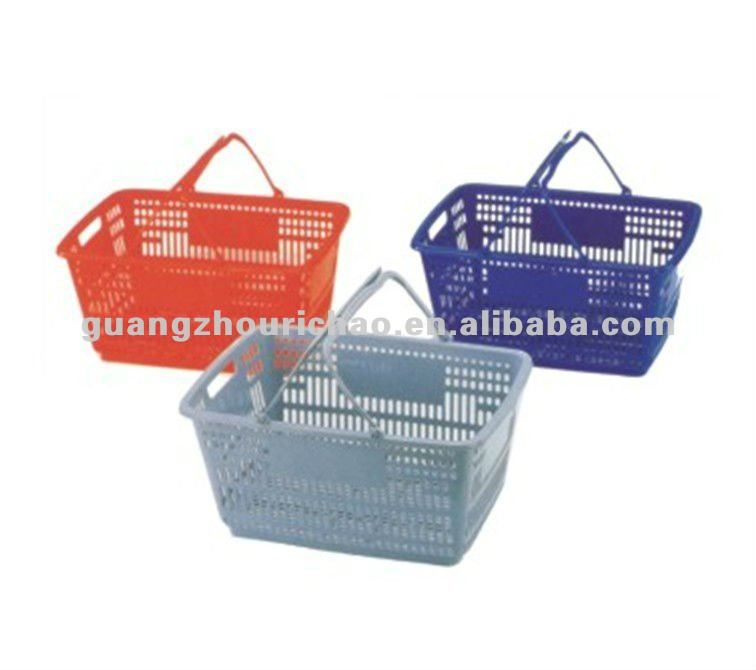 Grass Shopping Baskets Trolley Supermarket Plastic Shopping Basket