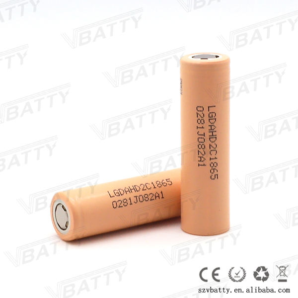 Original new 18650 battery 3.7v LG battery LGHG2/LGHE4/LGHB2/LGMH1/LG HD2C 2100MAH 20a fit for e cigarette