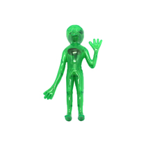 Children Funny Plastic DIY Somatology See Through Green Alien Toy