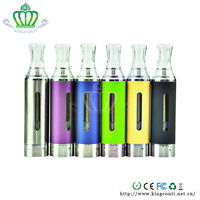 wholesale EU&USA colorful rainbow kanger EVOD clear atomizer with pen cover electronic ecigarette vapor
