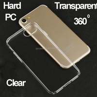 360 degree full cover hard pc mobile phone case for iphone 7 high clear transparent hard case for iphone 7 plus