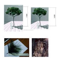 indoor or outdoor artificical pine tree decoration