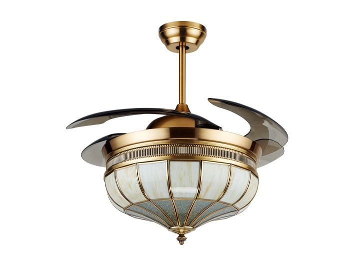 Noble decorative retractable lighting ceiling fan with hidden blades view ceiling fan with - Retractable blade ceiling fan ...