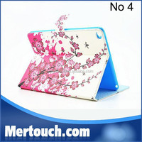 OEM colorful print Flip Wallet style case for iPad Air 2 Stand PU Leather case for iPad Air 2