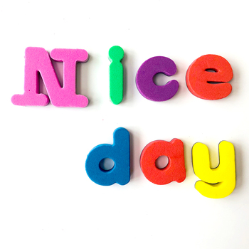 Cheap letters notepad custom fridge 3D foam magnet toy