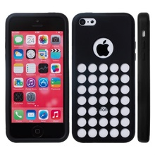 Original Phone Case For iPhone 5C,Holes Design Silione Back Cover For iPhone 5C