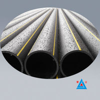 Top quality buried gas polyethylene pipe / PE gas transportation pipeline