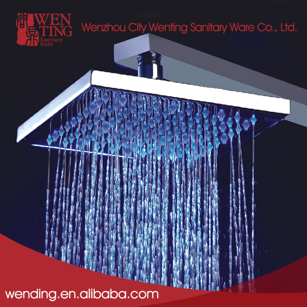 Wenting New design eco-friendly rain waterfall bathroom fittings brass ceiling showers