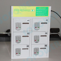 public safety cell phone charging station lockers with storage box