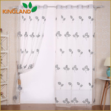 Garden Design Curtain Embroidery Fabric Curtain