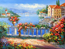 Seascape scenery oil painting on canvas