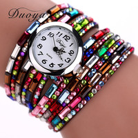 Hot Sale New Casual Luxury Women Bracelet Wristwatches Women Dress Watches Fashion colorful watch
