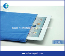 New Wholesale Packing Bags Nice Design Pouch For Ipad Velvet Blue Bag