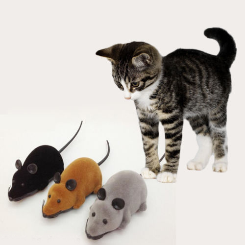 Novelty Wireless RC Remote Control Rat Mouse Toy For Cats Dogs Pets