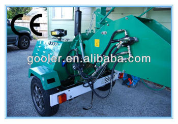 Tractor Mounted Wood chipper shredder WC-40, 40HP diesel engine, CE approval