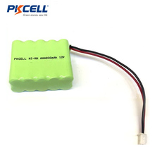 pkcell 800mah battery 12v mini ni-mh rechargeable battery 12v aaa 800mah battery pack