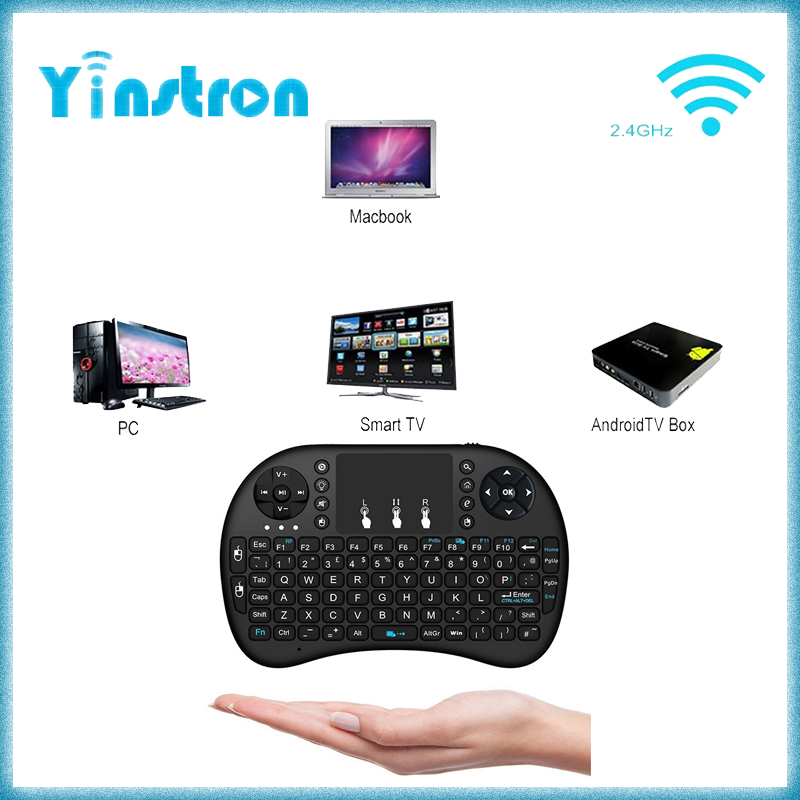 rii i8 mini keybard wireless mouse keyboard with touchpad 2.4G wireless keyboard for smart android tv box