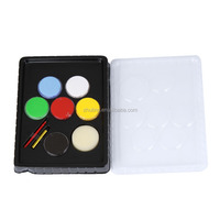 High quality 6 color kids waterproof glow face painting glow face paint with crayon and brush
