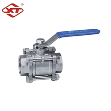 Stainless Steel 1000PSI Full Bore 3PC Thread Ball Valve 2000WOG