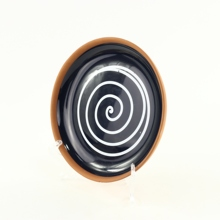Ceramic Tableware Black Glazed Round Ceramic Flat <strong>Plate</strong> Dish use for Oven, Microware and more