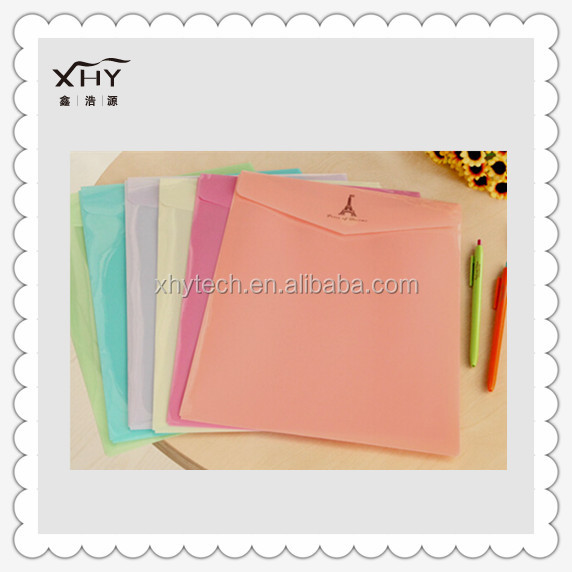 Color pvc bag for documents envelope pouch