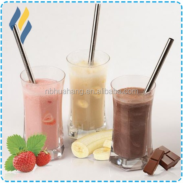 High Polish Food Grade 18/8 Stainless Steel Drinking Straws