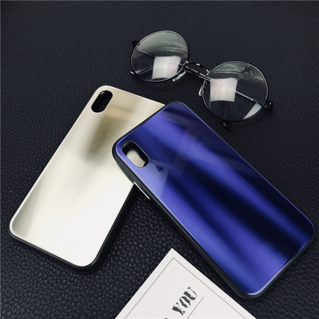 New Coming Special Aurora Tempered Glass Phone Case For Iphone 8 x