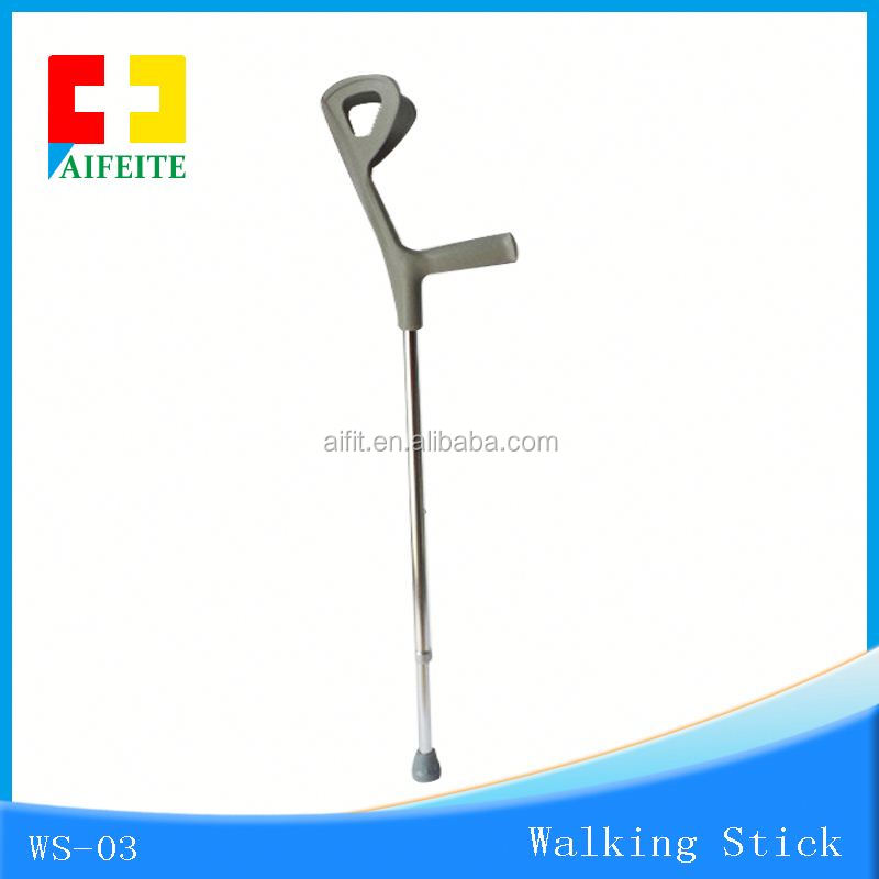 Telescopic Aluminum Alloy Outdoor Hiking Walking Cane Camping Stick Nordic Walking Poles with Aifit / Led Flashlight