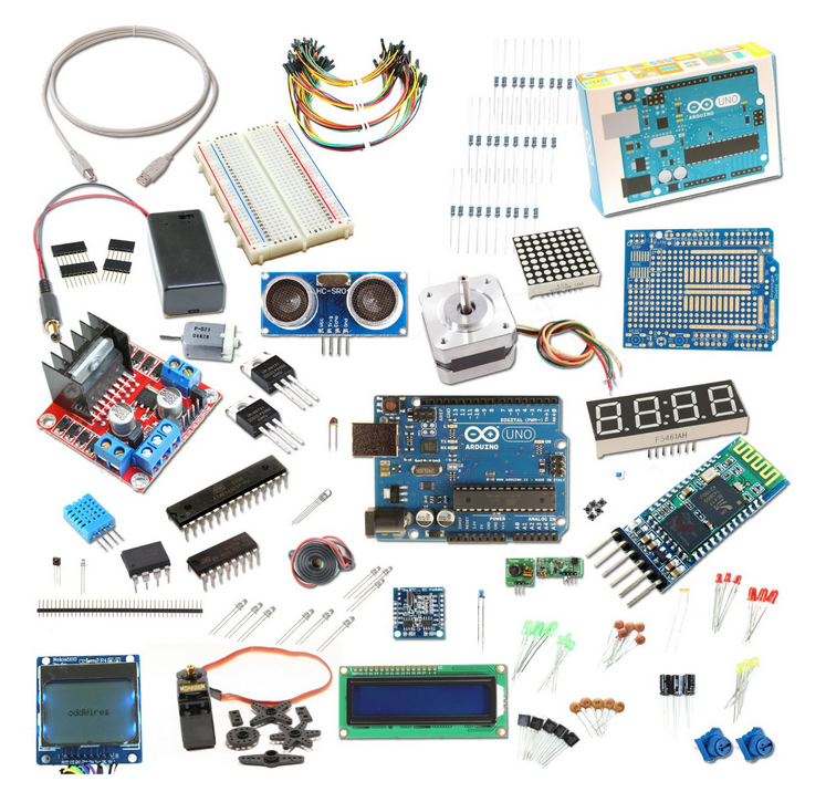 The Ultimate Kit with Uno from oddWires ,Graphic LCD 84x48 NOKIA 5110 ,DHT11 Temperature and Humidity Sensor.....