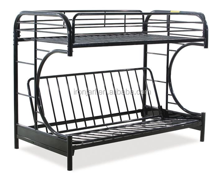 double decker durable c futon metal bunk bed buy metal. Black Bedroom Furniture Sets. Home Design Ideas