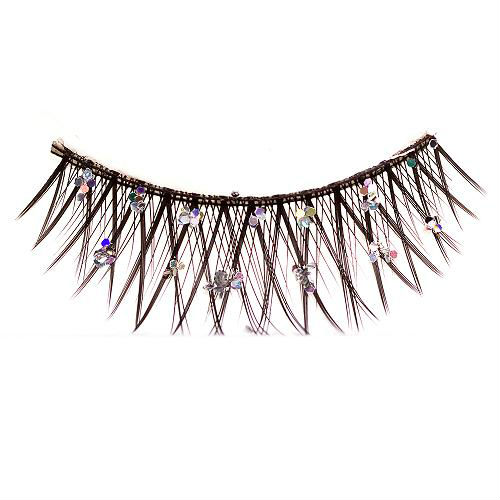 Lady's Eyelashes False Eyelashes women with Diamond