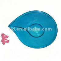 ZJY102039 Plastic serving blue fruit dish tray