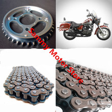 Qianjiang QJ150-3A/B Roller Motorcycle Chain With 38T/42T 15T Front Rear Sprockets